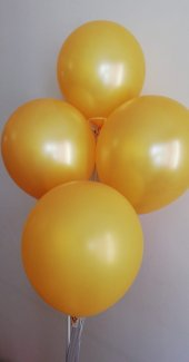 10 Adet Gold Renkli Baskısız Balon