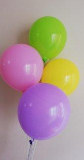 10 Adet Karışık Renkli Baskısız Balon