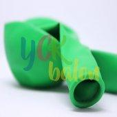 25 Adet Koyu Yeşil Renkli Baskısız Balon
