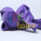 10 Adet Mor Renkli Baskısız Balon