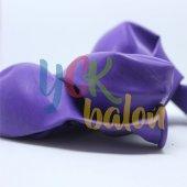 10 Adet Mor Renkli Baskısız Balon-2