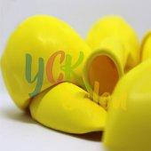 25 Adet Sarı Renkli Baskısız Balon-2