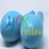 25 Adet Açık Mavi Renkli Baskılı Balon