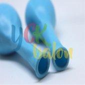 25 Adet Açık Mavi Renkli Baskılı Balon-2
