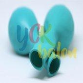 25 Adet Turkuaz Renkli Baskısız Balon