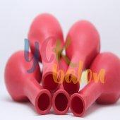 25 Adet Kırmızı Renkli Baskısız Balon-2