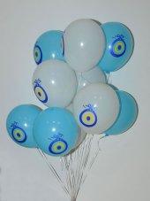 10 Adet Nazar Boncuk Baskılı Balon