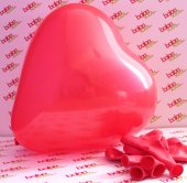 10 Adet Kırmızı Baskısız Kalpli Balon