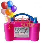 Çift Çıkışlı Balon Şişirme MakinasI-Pembe Renkli-2