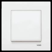 Viko Karre Beyaz Anahtar (Tekli Çerçeve Dahil)