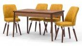 Milas Ceviz Açılır Mutfak Masa Sandalye Takımı,mutfak Masası