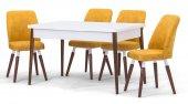 Lake Beyaz Sabit Mutfak Masa Sandalye Takımı,mutfak Masası