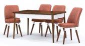 Belek Ceviz Açılır Mutfak Masa Sandalye Takımı,mutfak Masası