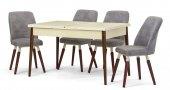 Belek Lake Krem Açılır Mutfak Masa Sandalye Takımı,mutfak Masası