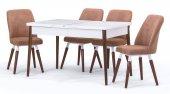 Belek Lake Beyaz Açılır Mutfak Masa Sandalye Takımı,mutfak Masası