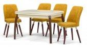 Side Lake Krem Açılır Mutfak Masa Sandalye Takımı,mutfak Masası