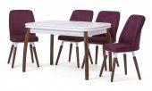 Side Lake Beyaz Açılır Mutfak Masa Sandalye Takımı,mutfak Masası
