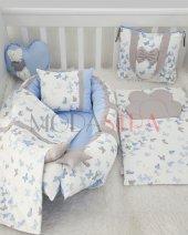 Modastra Mavi Kelebekli Desen Babynest Set