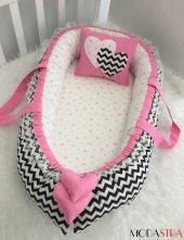 Modastra Babynest Siyah Zigzag Lüx Baby Nest