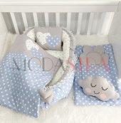 Modastra Babynest Mavi Yıldız Altaçma Lüx Baby Nest Set
