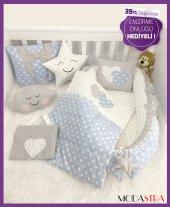 Modastra Babynest Mavi Yıldızlı Baby Nest Set Emzirme Önlüğü