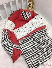 Modastra Baby Nest Siyah Kırmızı Özel Tasarım Babynest Set