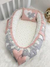 Modastra Babynest Bulut Ve Pudra Yıldız Kombin Lüx Baby Nest