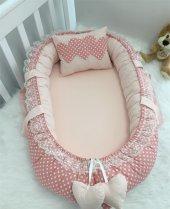 Modastra Babynest Puantiye ve Somon Kombin Lüx Baby Nest