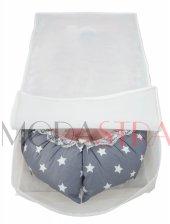 Modastra Babynest Gri ve Sarı Yıldız Kombin Lüx Baby Nest-3