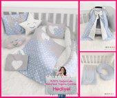 Modastra Babynest Mavi Yıldızlı Lüx Baby Nest Bebek Uyku Seti