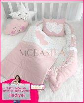 Modastra Babynest Pudra Lüx Tasarım Ortopedik Baby Nest Set