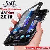 Samsung Galaxy A8 Plus 2018 Kamera Korumalı Tam Koruma Kılıf