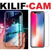 Asus Zenfone 4 Selfie Zd553kl Şeffaf İnce Kılıf + Cam