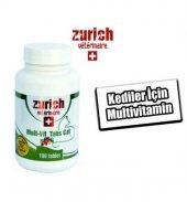 Zurich Mult Vit Kediler İçin Vitamin 100 Tablet Skt 09 2022