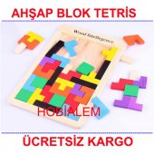 Ahşap Blok Tetris Zeka Oyunu Wooden Toys Zeka Bulmaca Oyuncak