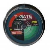 T Gate Dvd+r 8.5gb Dl 240mın 8x 10lu Cake
