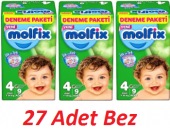 Molfix Deneme Paketi Bebek Bezi Maxi 4 Numara 7 14...