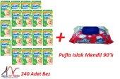 Molfix 3 Numara 240 Adet Bez+ Pufla Islak Mendil 9...