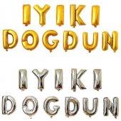 Iyiki Doğdun Folyo Balon Seti 40cm 11 Harf (Altın Gümüş) Özel Süs