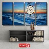 deniz manzara tablosu- saatli kanvas tablo MODEL 6 - 184x107 cm-3