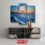 deniz manzara tablosu- saatli kanvas tablo MODEL 6 - 184x107 cm-5