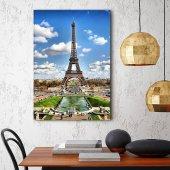 Paris Eyfel Kulesi Tablosu - Dikey Tablo 70 cm x 100 cm