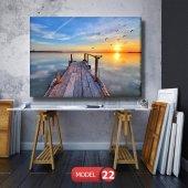 iskele ve kuşlar resimli  Kanvas Tablo 50 x 100 cm-2