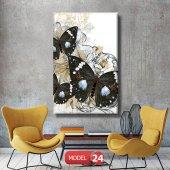 siyah kelebek resimli duvar  Tablosu 60 x 90 cm
