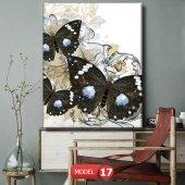 siyah kelebek resimli duvar  Tablosu 60 x 90 cm-2