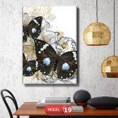 siyah kelebek resimli duvar  Tablosu 60 x 90 cm-4