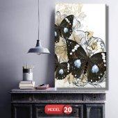 siyah kelebek resimli duvar  Tablosu 60 x 90 cm-5
