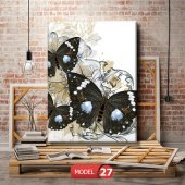 siyah kelebek resimli duvar  Tablosu 60 x 90 cm-6