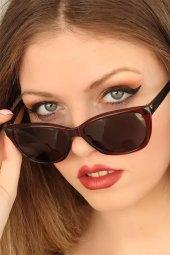 Bordo Renk Çerçeveli Clariss Bayan Güneş Gözlüğü-2
