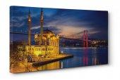 Ortaköy Cami Ve Boğaz Köprüsü Led Işıklı Tablosu 100 cm x 200 cm